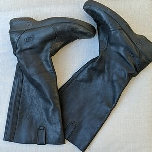 KEEN BLACK LEATHER TALL BOOTS 9.5